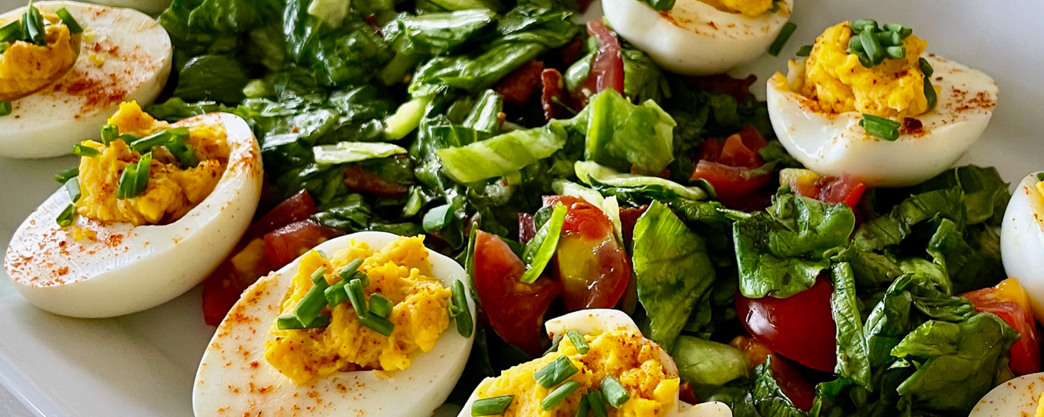 Classic Deviled Eggs with Salad